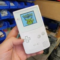 Game Boy Color - Custom Buttons - Pearl White